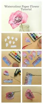 watercolor paper flower tutorial diy watercolour paper flower art pinterest watercolor paper