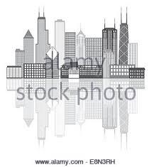 chicago city skyline panorama outline silhouette paint splatter