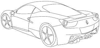 sport car coloring page free download