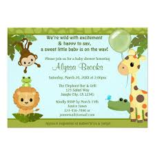 personalized safari baby invitations custominvitations4u com