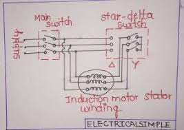 working of a star delta starter for an induction motor