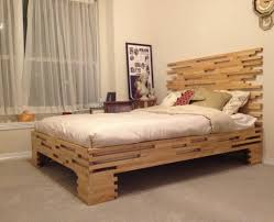 futon simple varnished white oak wood bed frame which furnished