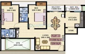 600 sq ft apartment floor plan 2 bhk 1234 sq ft apartment for sale in navin housing starwood