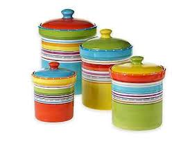 4 piece canister set kitchen storage jar coffee sugar flour set