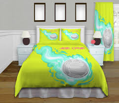 Sports Comforter Sets Twin King Size Duvet Cover Girls Volleyball Bedding Kids Sports