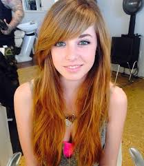 brunette hairstyles wiyh swept away bangs 50 cute long layered haircuts with bangs 2018