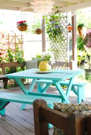 Ideas For Painting Garden Furniture by Best 25 Outdoor Picnic Tables Ideas On Pinterest Folding Picnic
