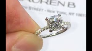 thin band engagement ring 1 50 carat cushion diamond engagement ring in thin micropave band