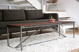 steel and wood table fermata woodworks modern reclaimed furniture in seattle wa