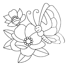 flowers and butterflies coloring pages printable images kids aim