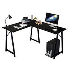 soges corner desk l shaped computer desk l 120 90 w48 h75 cm