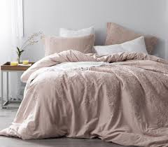 baroque stitch styled duvet cover ice pink fawn embroidery