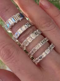 emerald cut wedding band emerald and asscher cut wedding bands joshua j calvin s