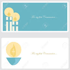 Baptism Card Invitation First Communion Or Confirmation Invitation Card Royalty Free
