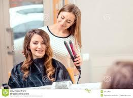 beautiful woman in hair salon stock photo image 50870416