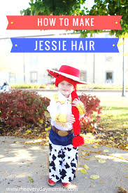 make your cowgirl happy with the diy craft wig for jessie from toy