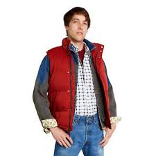 back to the future costume puffer vest marty mcfly back to the future rust costume