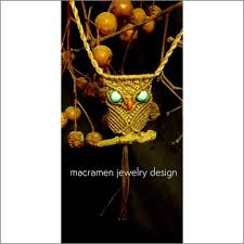 owl item owl crystal necklace macramen jewelry collection m0101