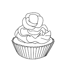 cupcake coloring pages cherry coloringstar
