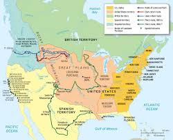 Louisiana Purchase Map by Chapter 9