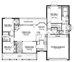 plan42 country style house plan 3 beds 2 baths 1624 sq ft plan 42 541