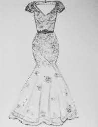 wedding dress drawing custom wedding dress sketch by myartspace