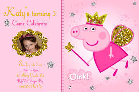fine peppa pig party invitation free printable amazing