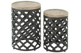 Metal Accent Table Caged Metal Accent Table Living Spaces