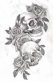 skull roses designs 1000 ideas about skull tattoos