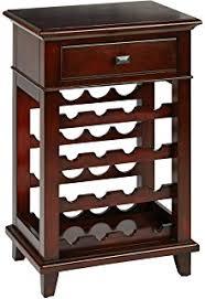 Office Bar Cabinet Amazon Com Kissemoj Wood Bar Wine Rack Glass Liquor Cabinet With
