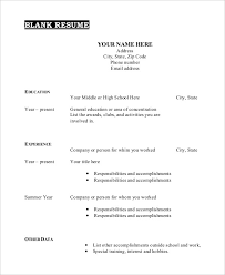 free template for resume resume blank template printable resume template creative free
