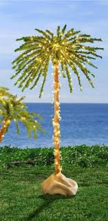 unique lighted 6 foot 300 lights outdoor artificial palm tree new