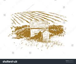 House Drawing by Old Winery House Drawing Stock Vector 573905143 Shutterstock