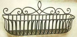 Wrought Iron Wall Planters by The Iron Works Of Newark Bespoke Products