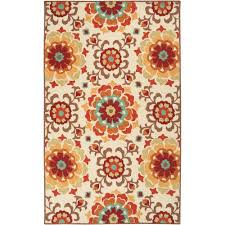 5 X 7 Indoor Outdoor Rug by Red Southwestern Outdoor Rugs Rugs The Home Depot