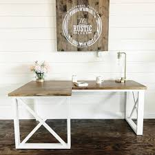 White L Shape Desk White L Shaped X Desk Featuring Handmade And