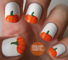 diy easy halloween nails cute pumpkin nail designs 11 youtube the