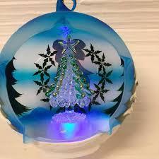 sorelle winter globe ornament led free battery