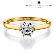verlobungsringe gold diamant solitär verlobungsring royal gelbgold in 14 karat 585