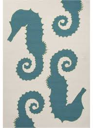 Coastal Indoor Outdoor Rugs Seahorse Slate Blue Indoor Outdoor Area Rug 7 6x9 6