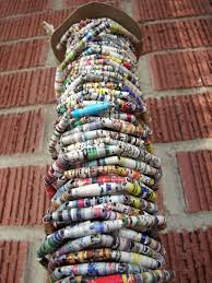 one foot of upcycled paper bead garland wedding garland