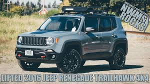 trailhawk jeep green lifted 2016 jeep renegade trailhawk 4x4 youtube