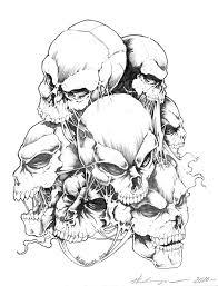 extraordinary skulls tattoo design sketch tattoomagz
