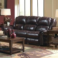 presley cocoa reclining sofa leather reclining sofa nailhead trim power drop down table
