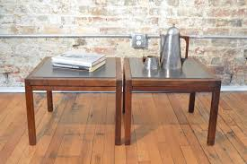 Mid Century Modern Sofa Table by Mid Century Modern Slate And Walnut End Tables Galaxiemodern