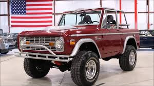 ford bronco 1970 1970 ford bronco burgundy youtube
