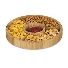 assiettes en bois relaxdays assiette en bois planche à découper bois lot de 3