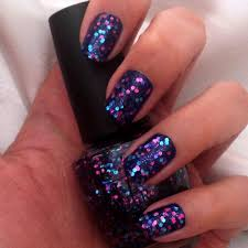 blue u0026 pink glitter nails nail design pinterest pink glitter