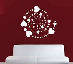 hearts sticker decal vinyl wall art company heart stickers