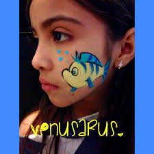 disney little mermaid flounder facepaint facepainting